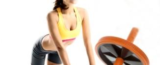 упражнения со спортивным колесом