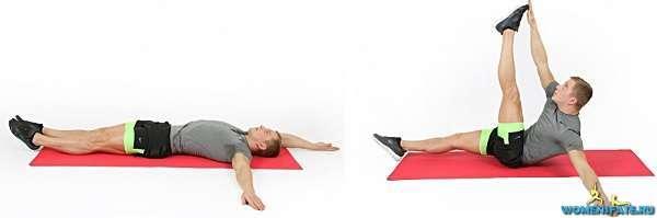 подъем противоположных рук и ног