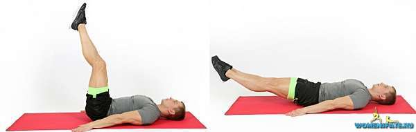 упражнение опускание ног