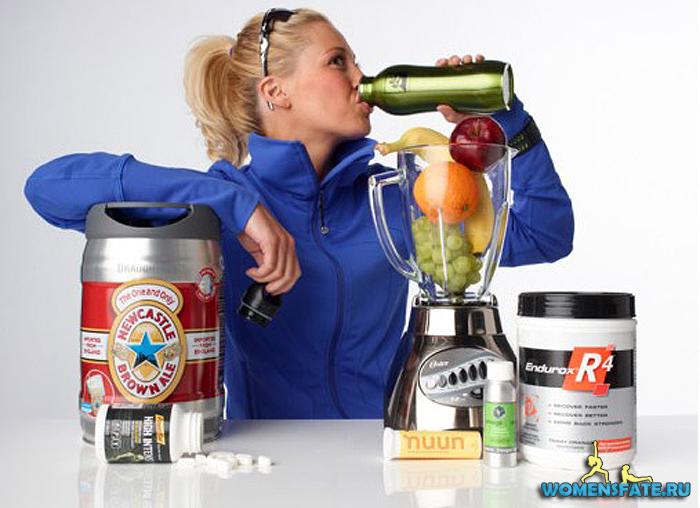 девушка спортивное питание