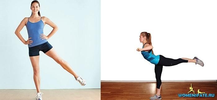 подъем ног в стороны и назад