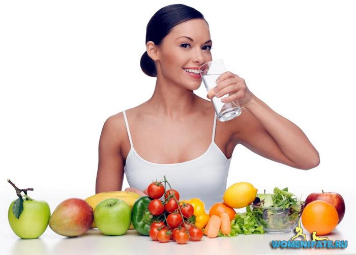 правильное питание и вода