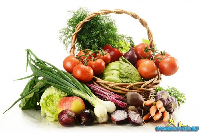 карзинка овощей