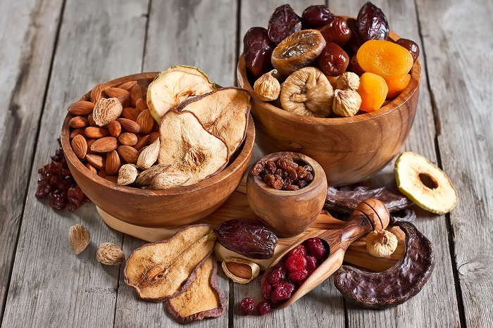 сушёные фрукты и орехи